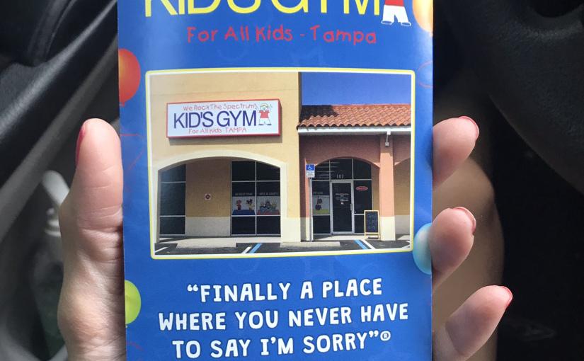 we rock the spectrum kids gym brochure tampa florida